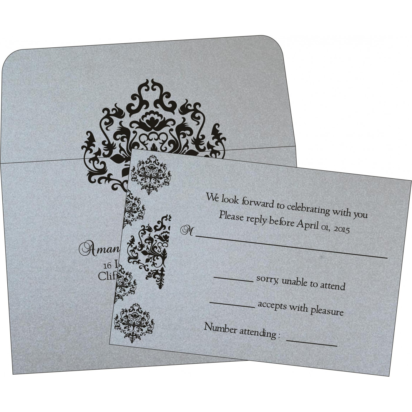 RSVP Cards : RSVP-8254H - 123WeddingCards