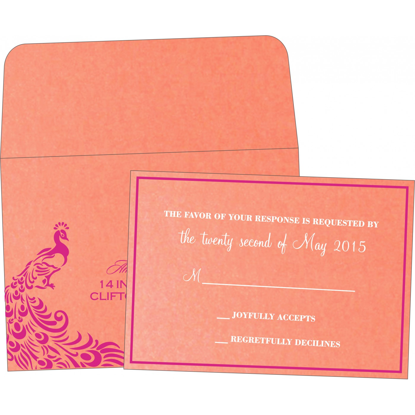 RSVP Cards : RSVP-8255B - 123WeddingCards