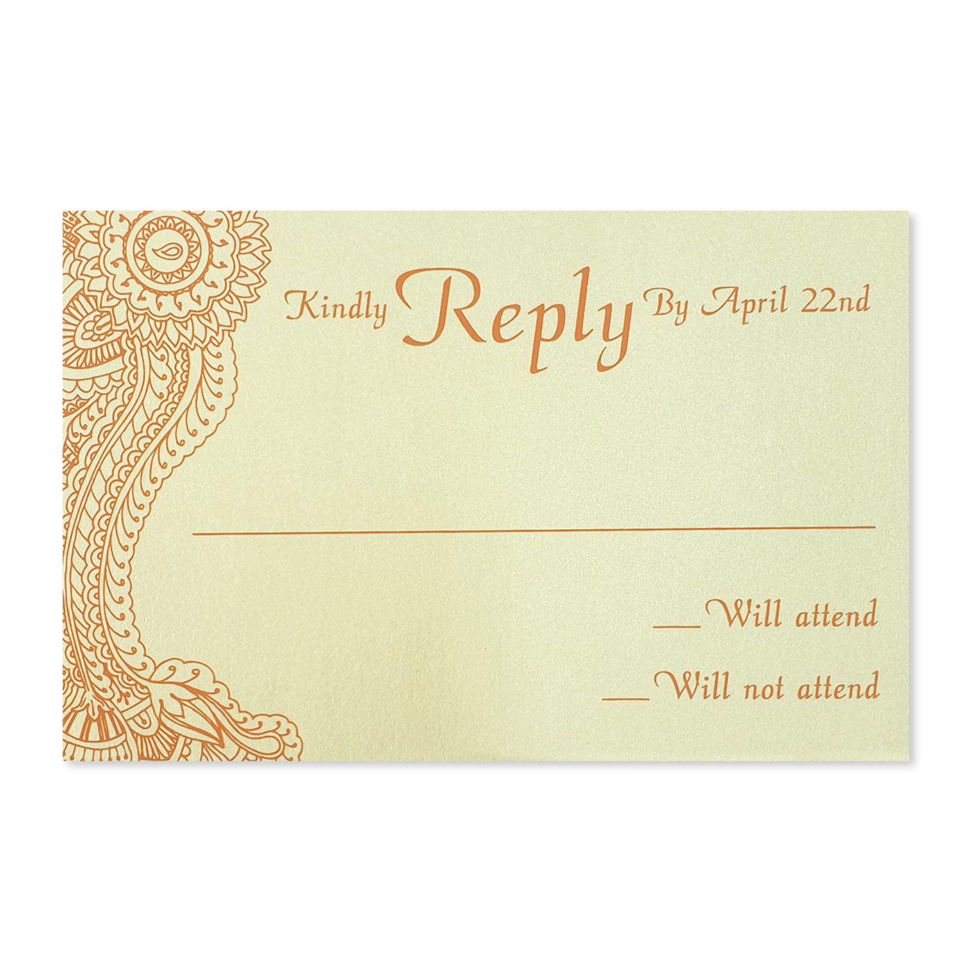 RSVP Cards : RSVP-ATOMIC_TANGERINE - 123WeddingCards