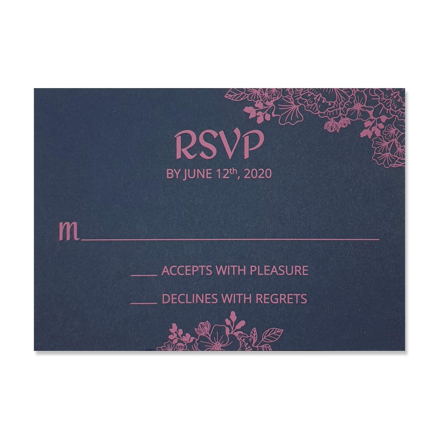 RSVP Cards : RSVP-BLOOM - 123WeddingCards