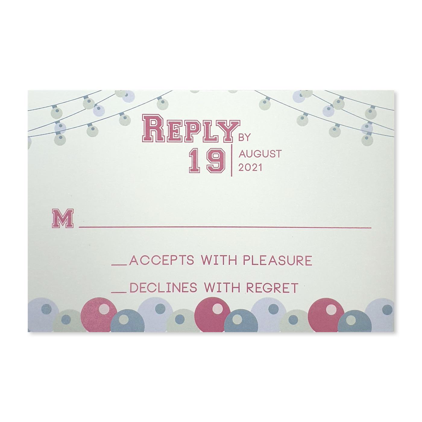 RSVP Cards : RSVP-CARICATURE_LOVE - 123WeddingCards