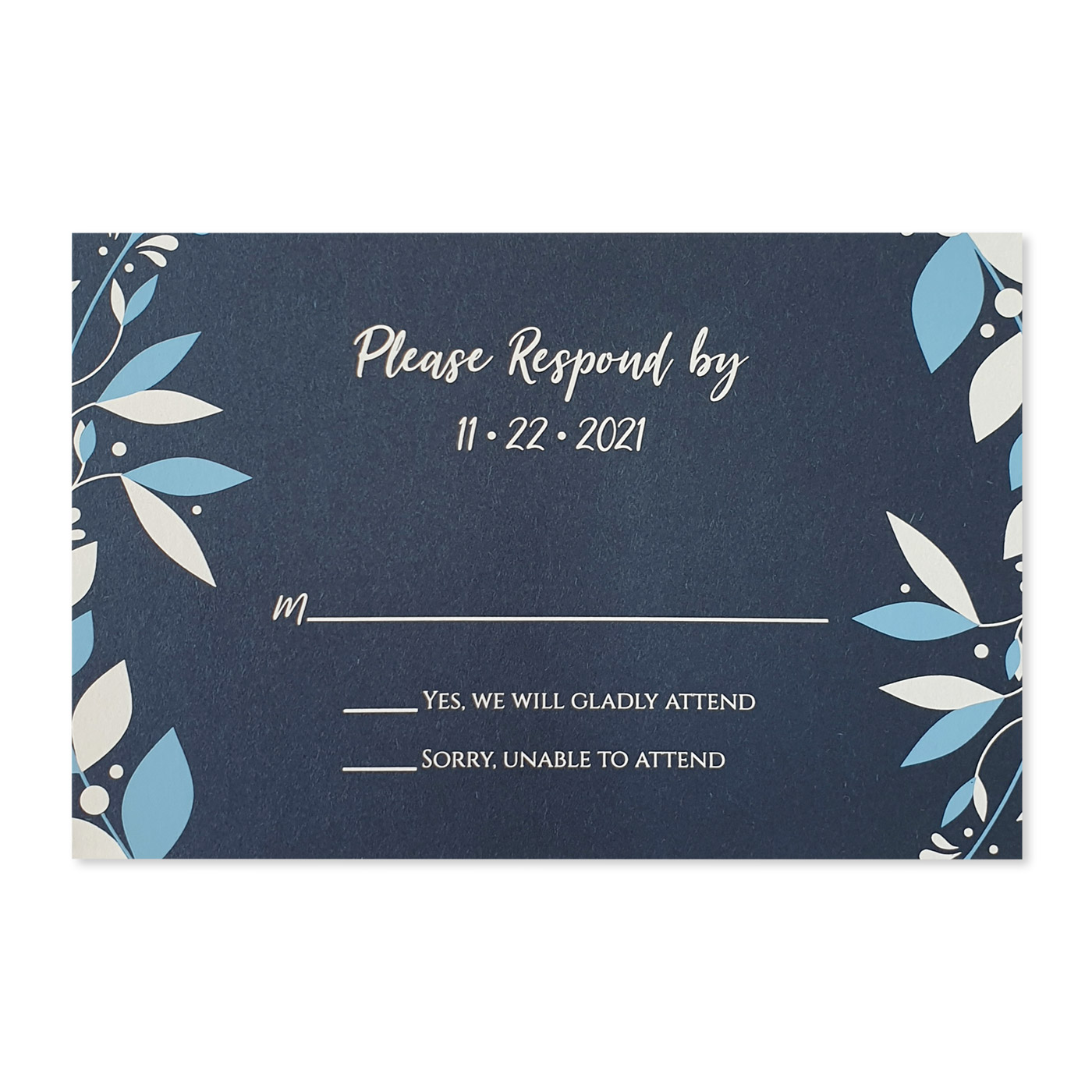 RSVP Cards : RSVP-CORNER_WREATH - 123WeddingCards