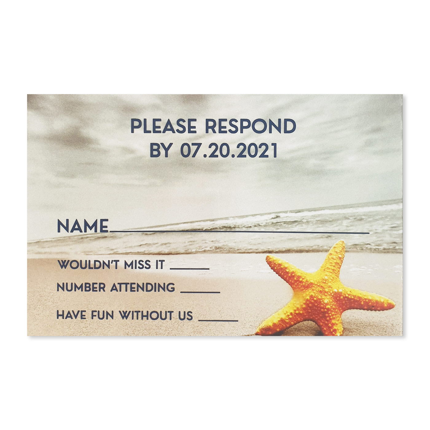 RSVP Cards : RSVP-NAUTICAL_STARFISH - 123WeddingCards