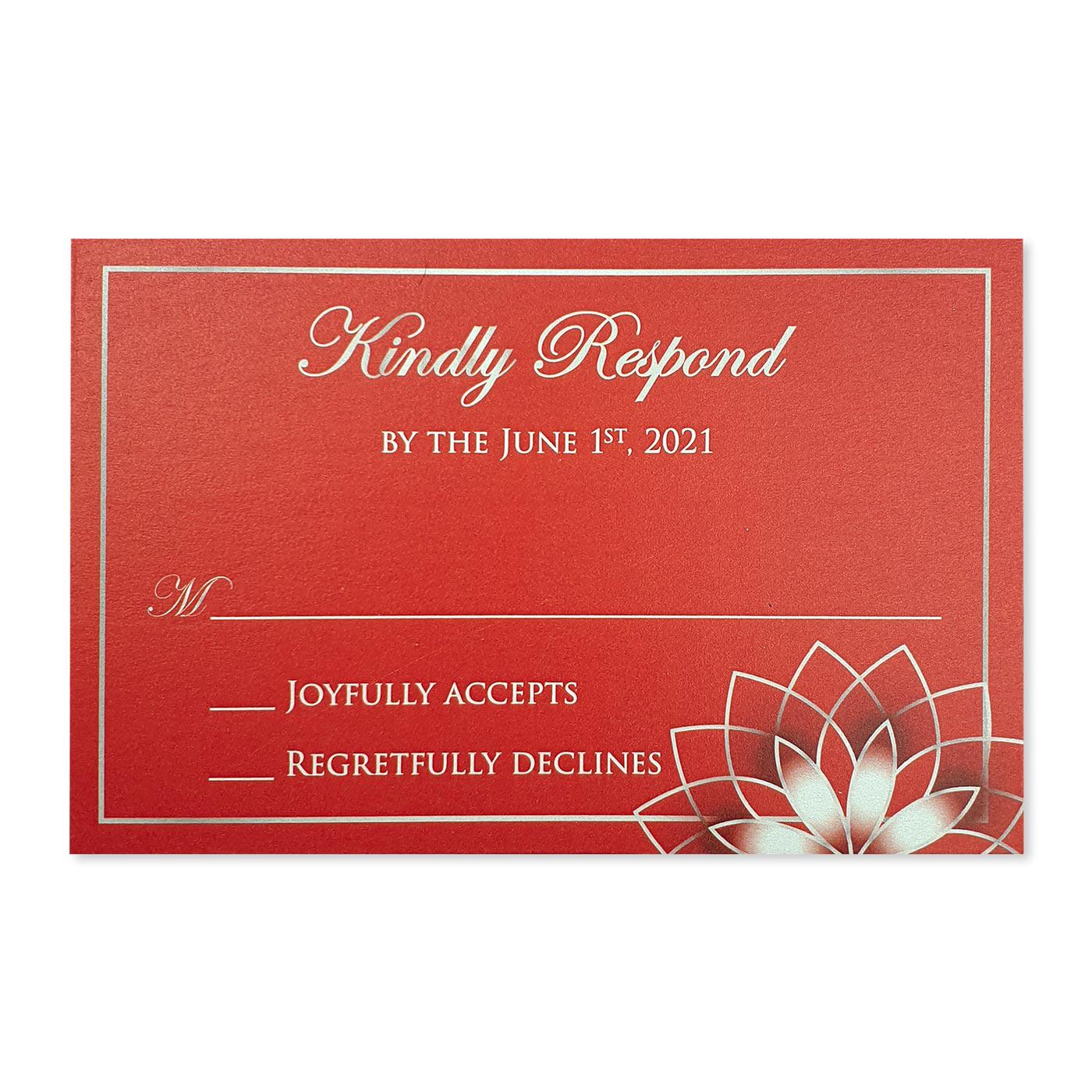 RSVP Cards : RSVP-ROSE_OUTLINE - 123WeddingCards