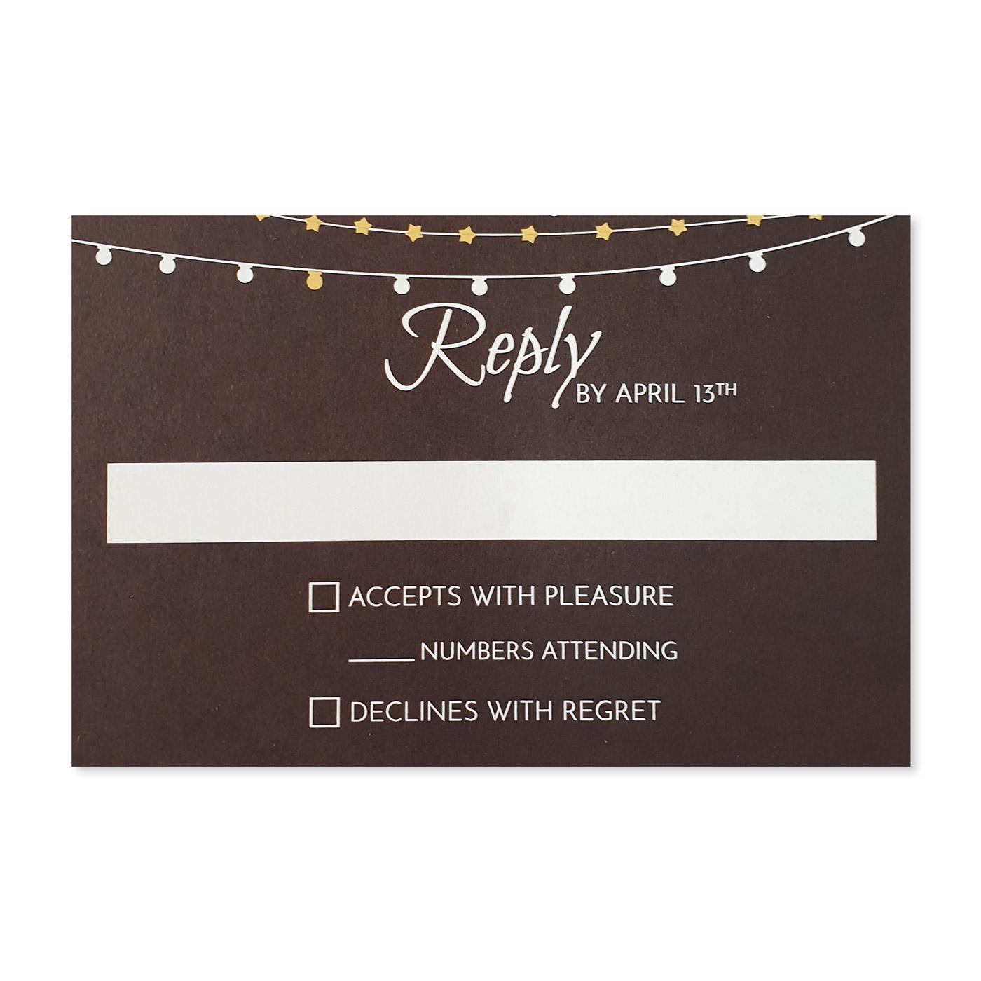 RSVP Cards : RSVP-RUSTIC_STARS - 123WeddingCards