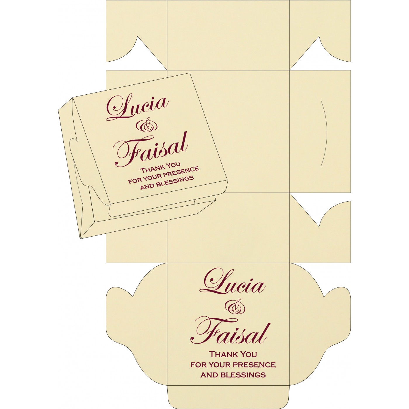 Cake Sweet Boxes : SB-1203 - 123WeddingCards