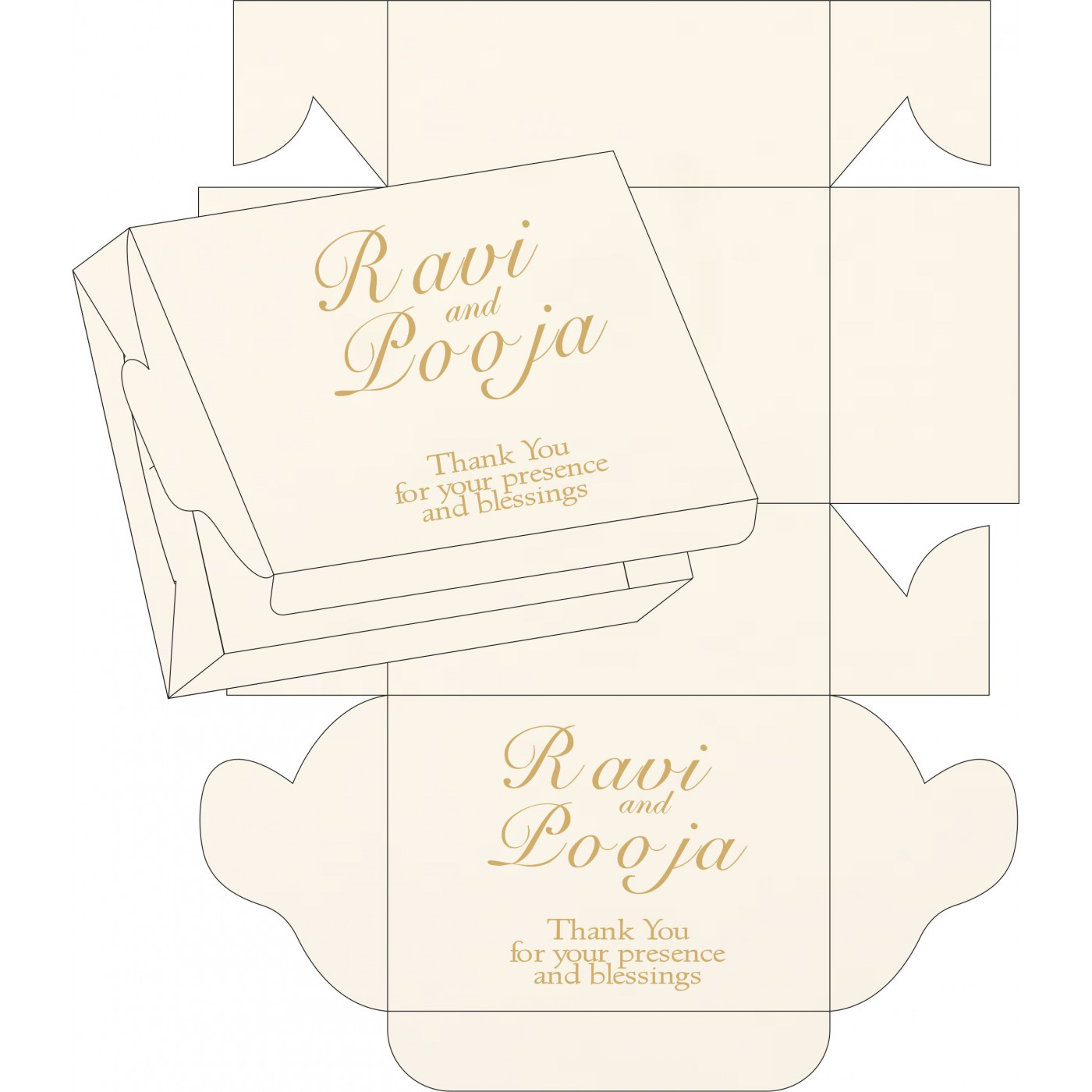 Cake Sweet Boxes : SB-1236 - 123WeddingCards