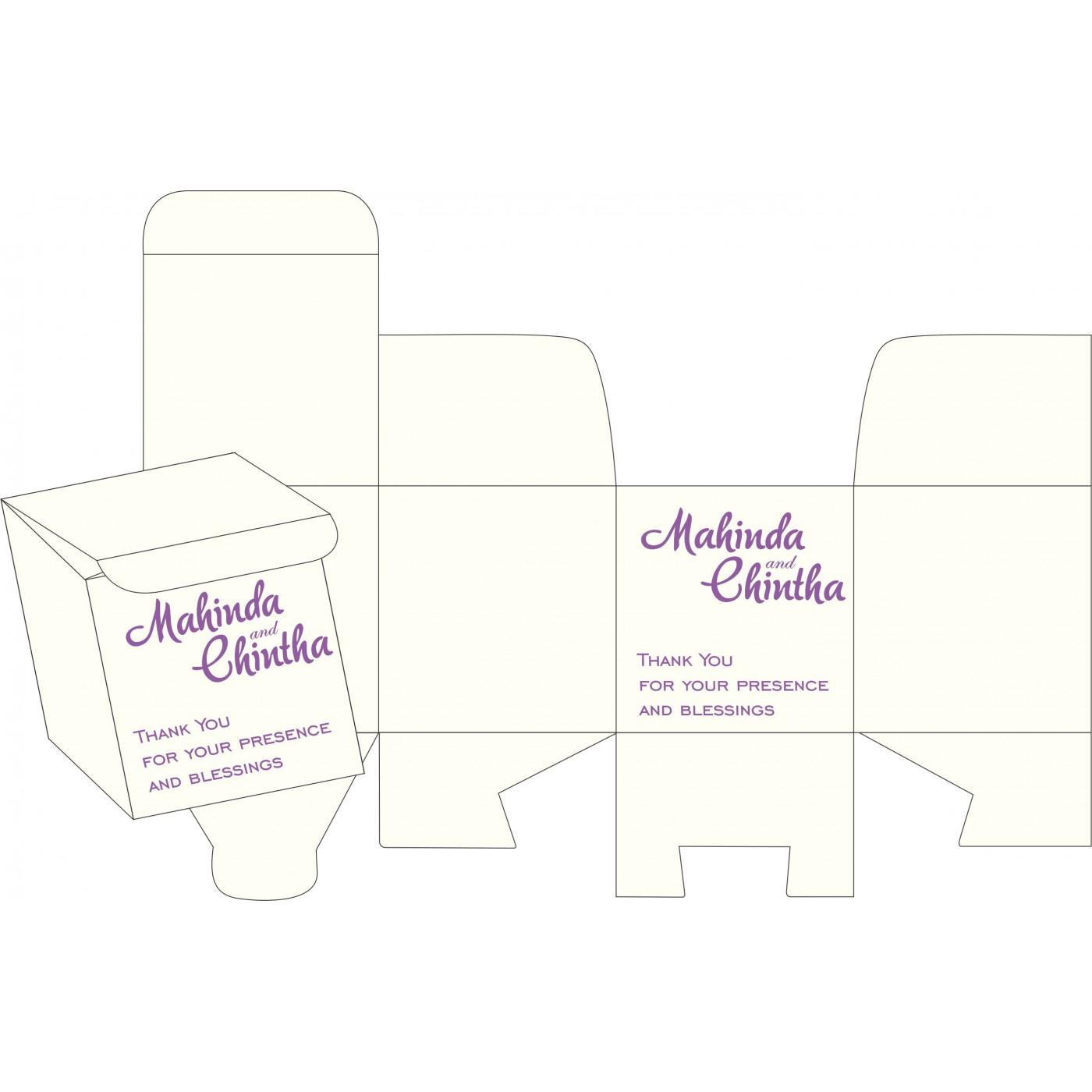 Cake Sweet Boxes : SB-1327 - 123WeddingCards