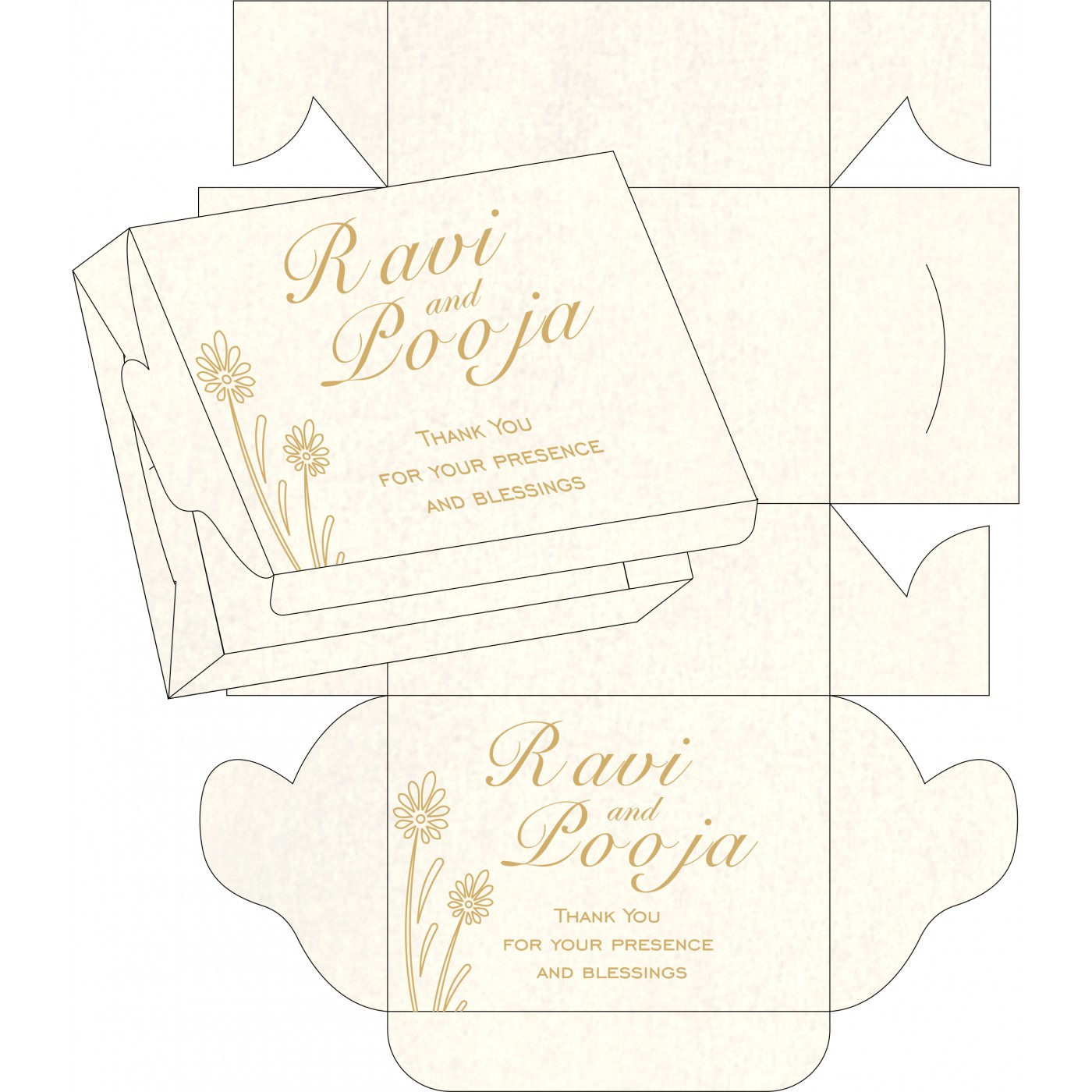 Cake Sweet Boxes : SB-1378 - 123WeddingCards