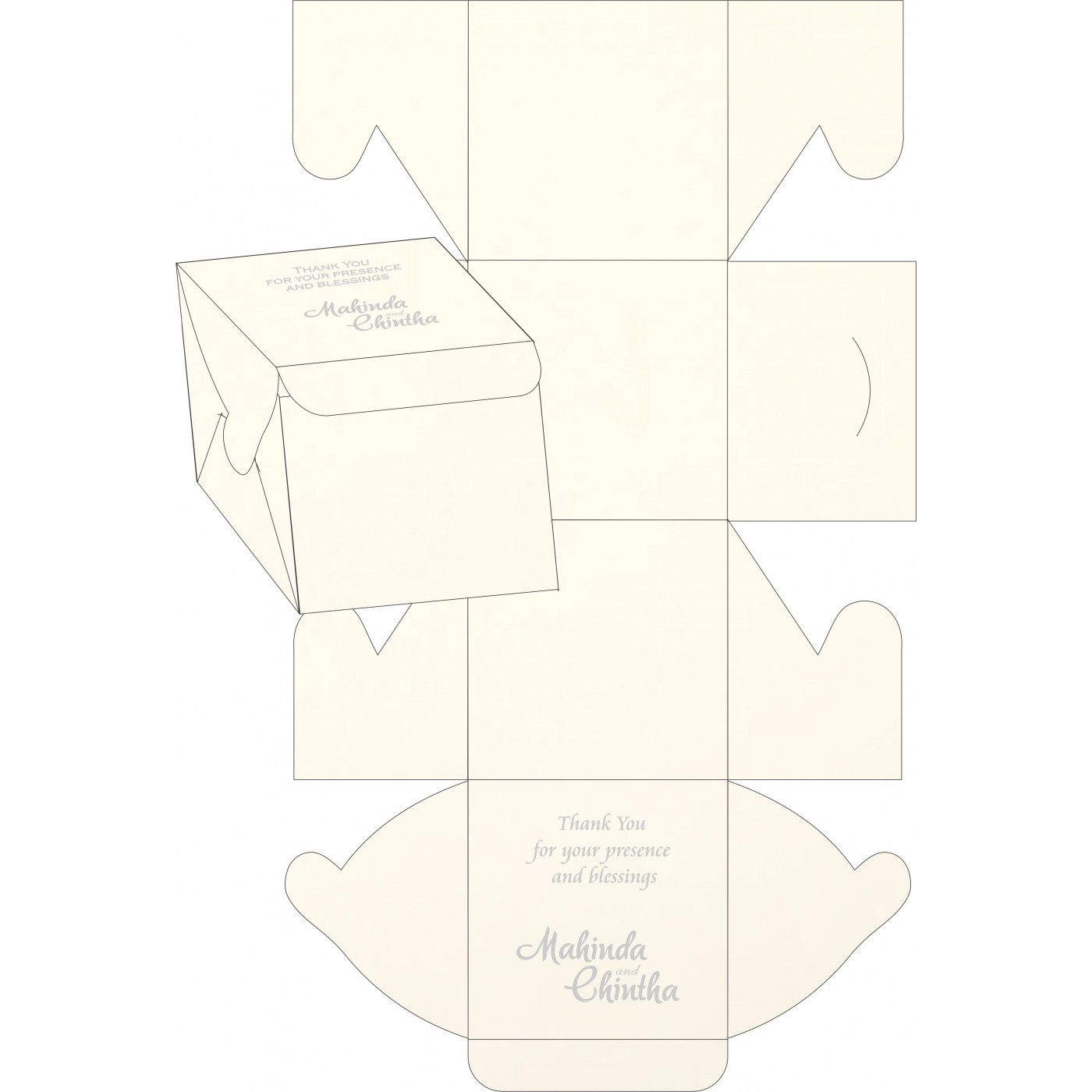 Cake Sweet Boxes : SB-1380 - 123WeddingCards
