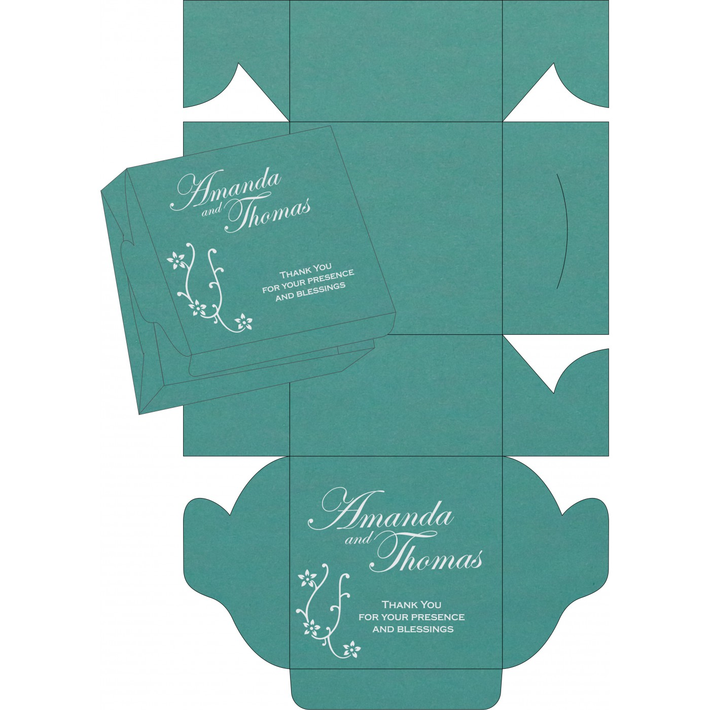 Cake Sweet Boxes : SB-1400 - 123WeddingCards