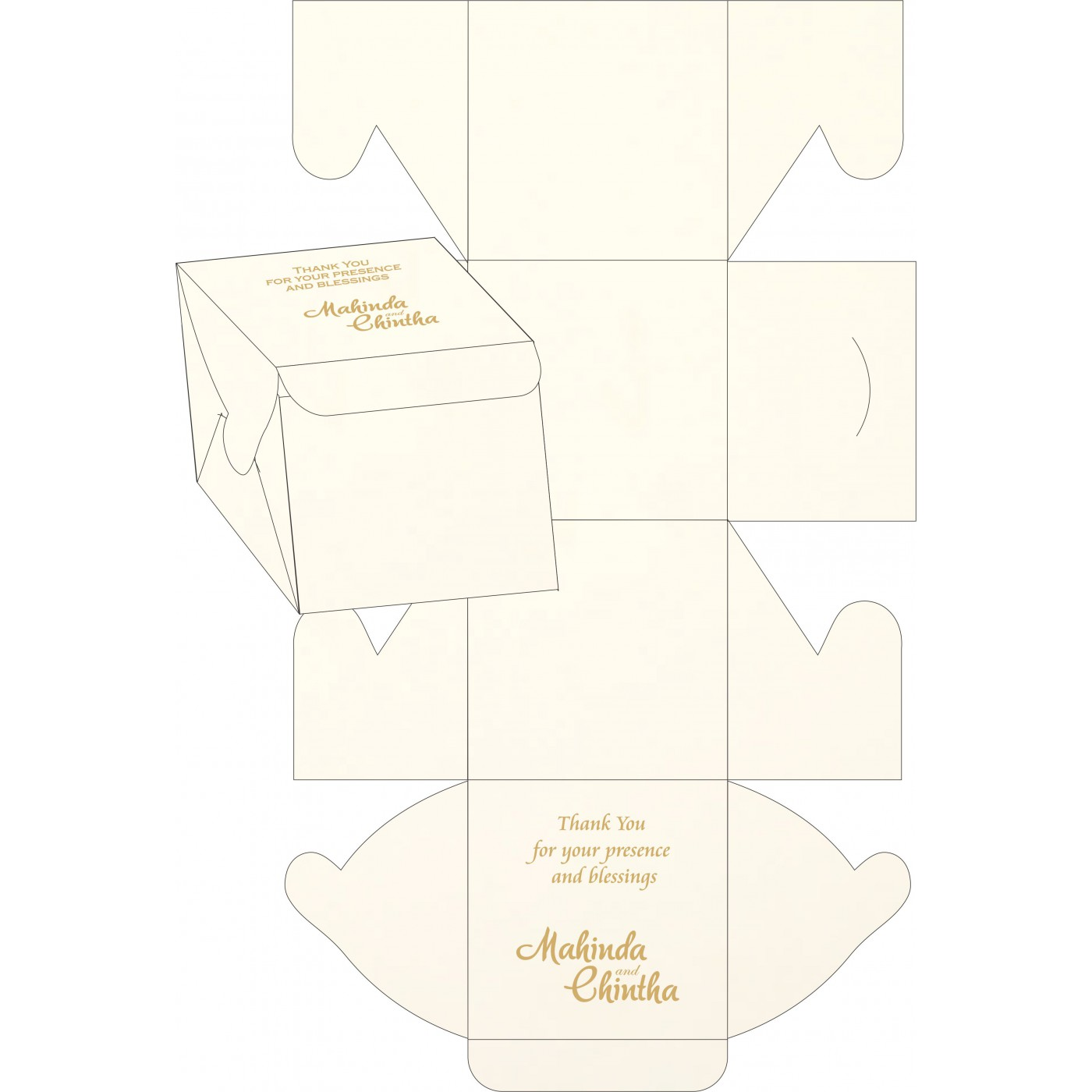 Cake Sweet Boxes : SB-1439 - 123WeddingCards