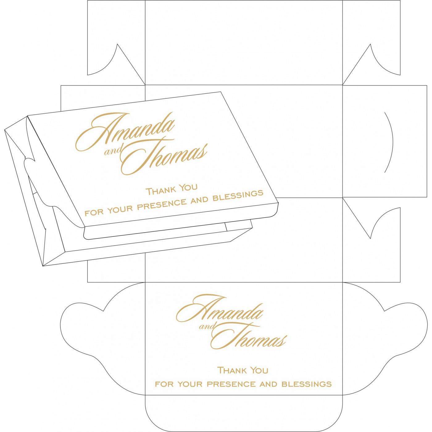 Cake Sweet Boxes : SB-1447 - 123WeddingCards