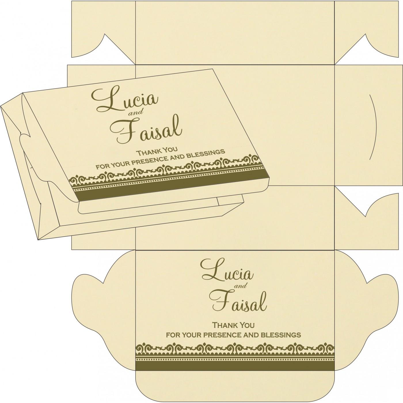 Cake Sweet Boxes : SB-8205G - 123WeddingCards