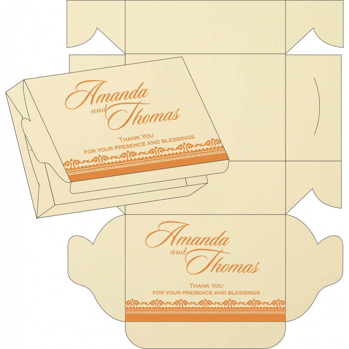 Cake Sweet Boxes : SB-8205H - 123WeddingCards