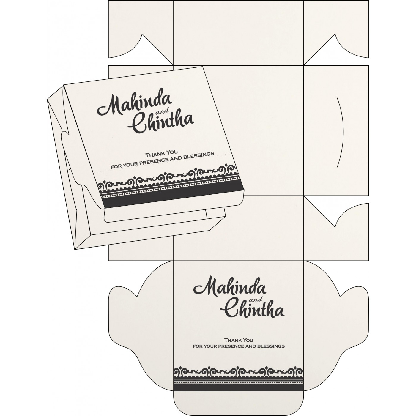 Cake Sweet Boxes : SB-8205L - 123WeddingCards
