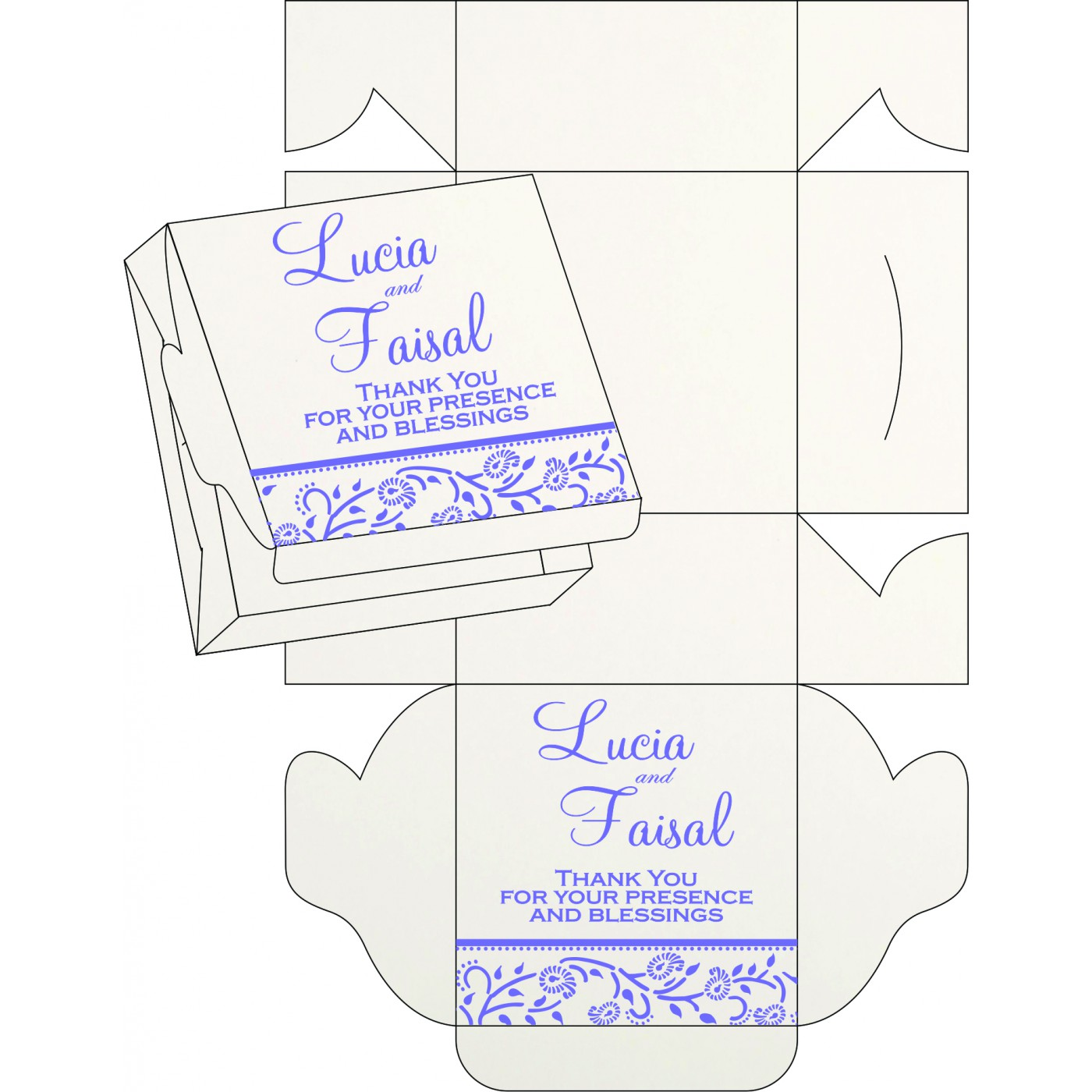 Cake Sweet Boxes : SB-8206A - 123WeddingCards