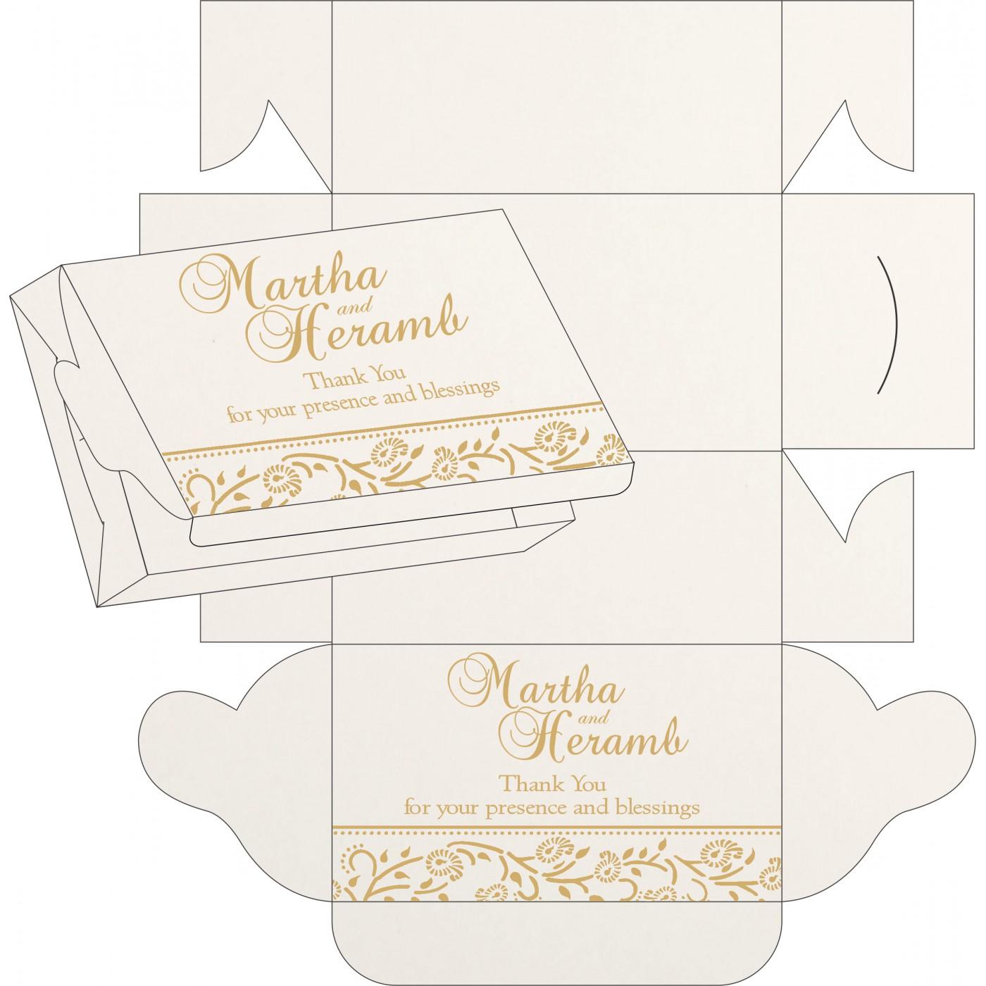 Cake Sweet Boxes : SB-8206D - 123WeddingCards