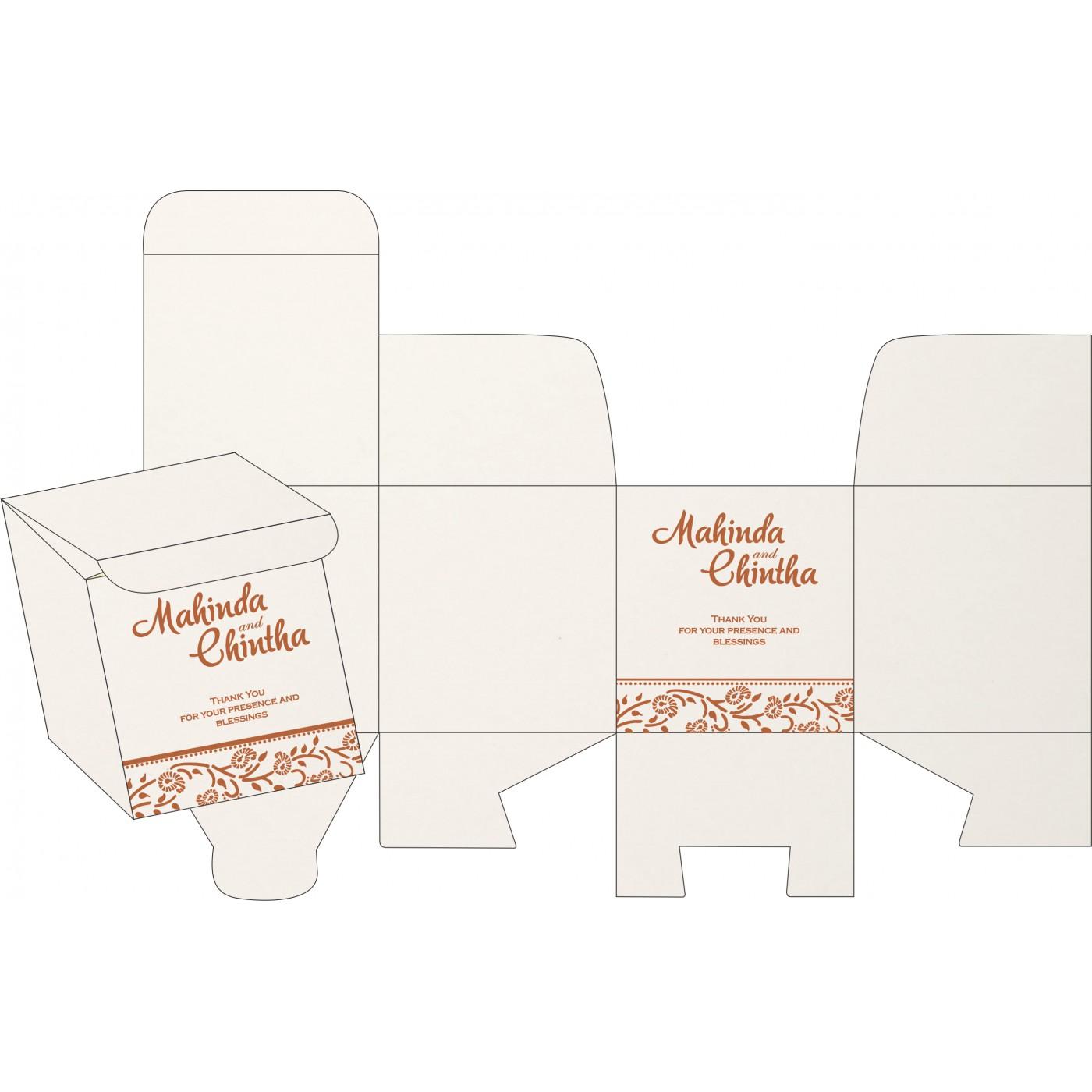 Cake Sweet Boxes : SB-8206G - 123WeddingCards