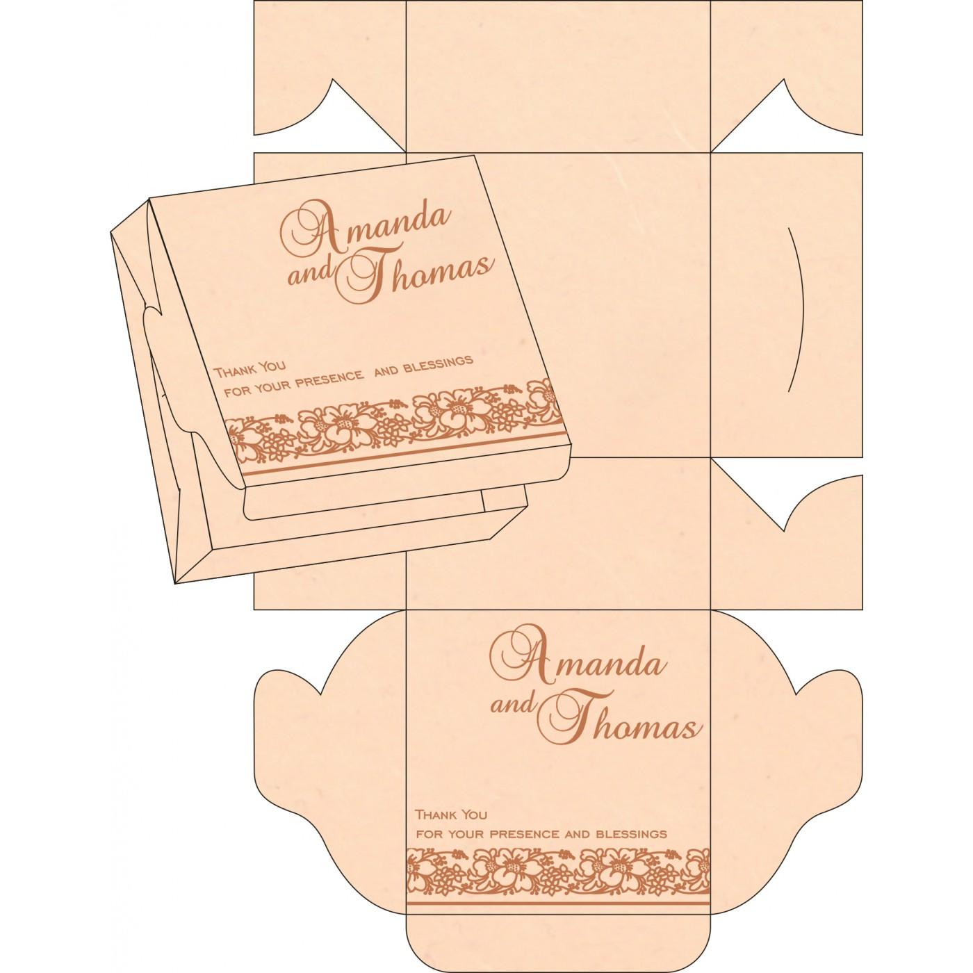 Cake Sweet Boxes : SB-8207C - 123WeddingCards