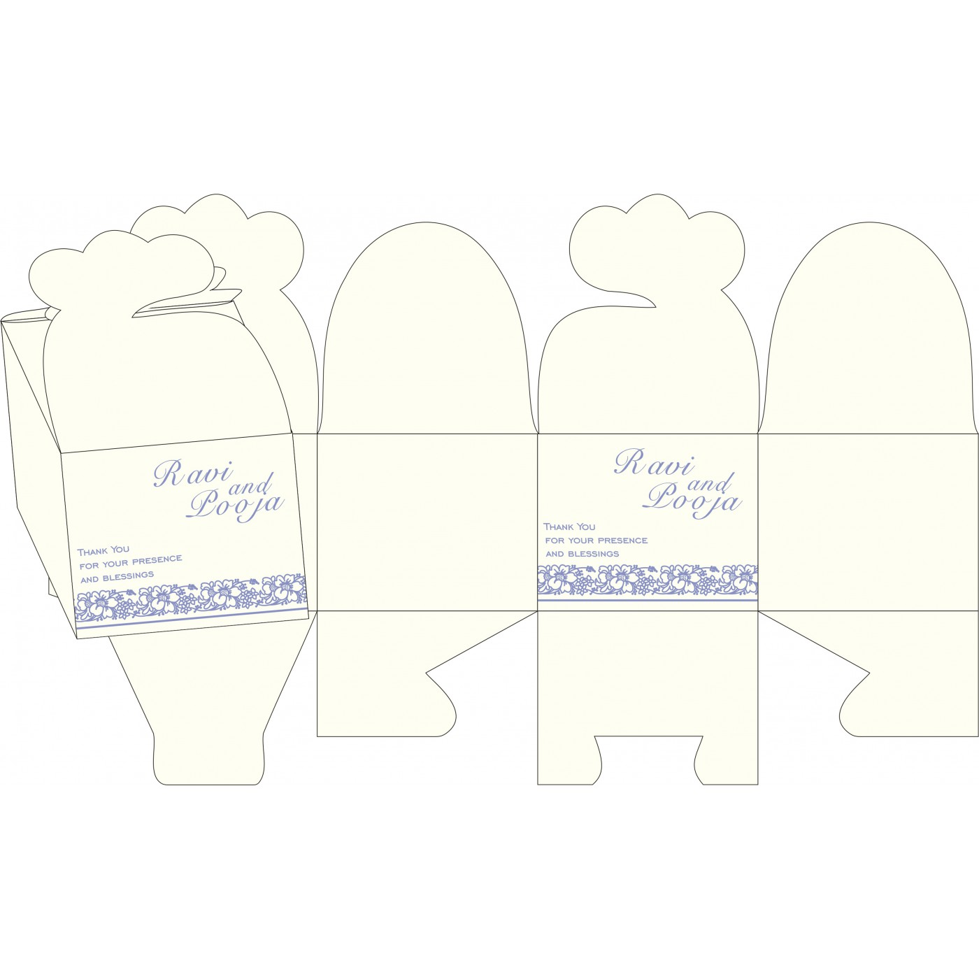 Cake Sweet Boxes : SB-8207D - 123WeddingCards
