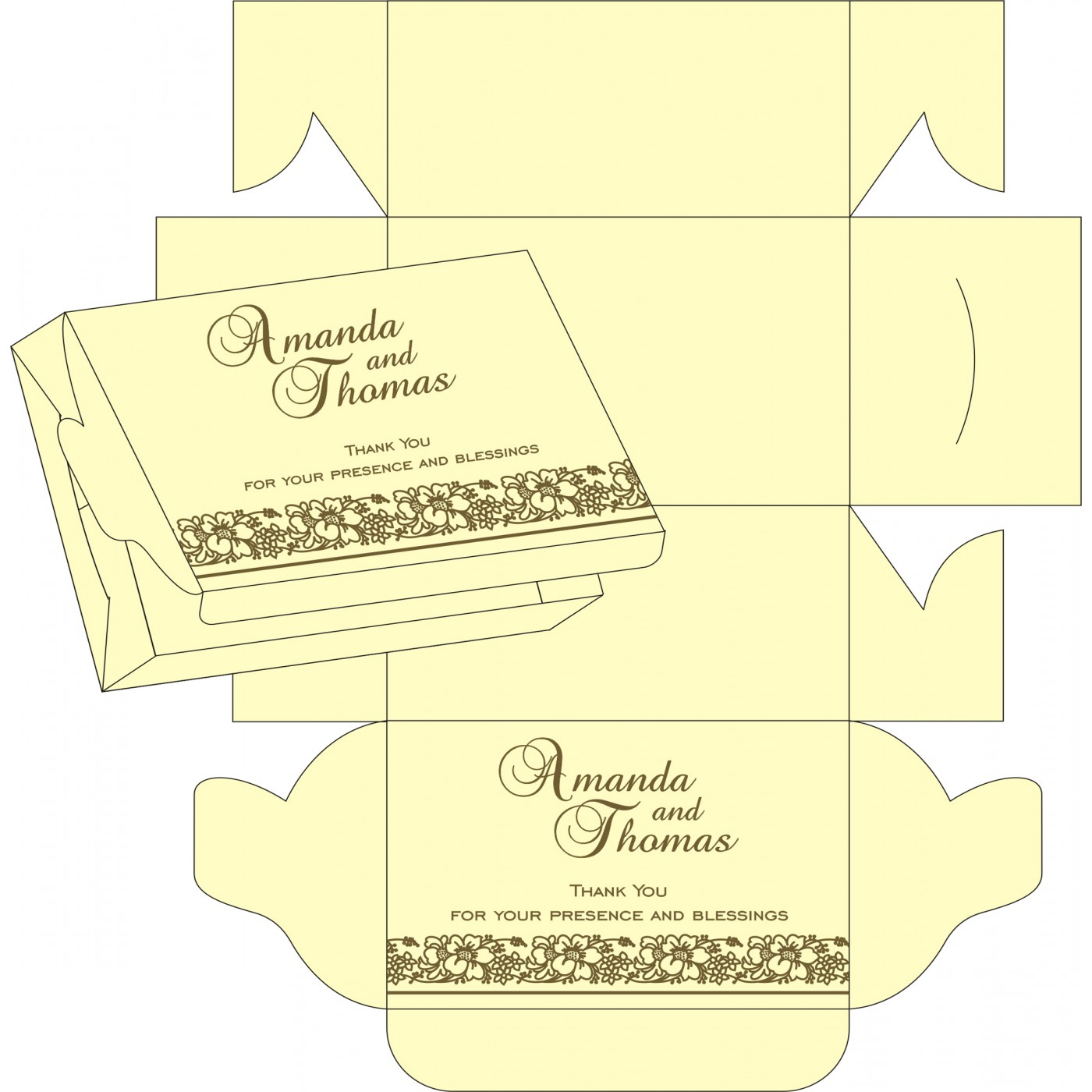 Cake Sweet Boxes : SB-8207H - 123WeddingCards