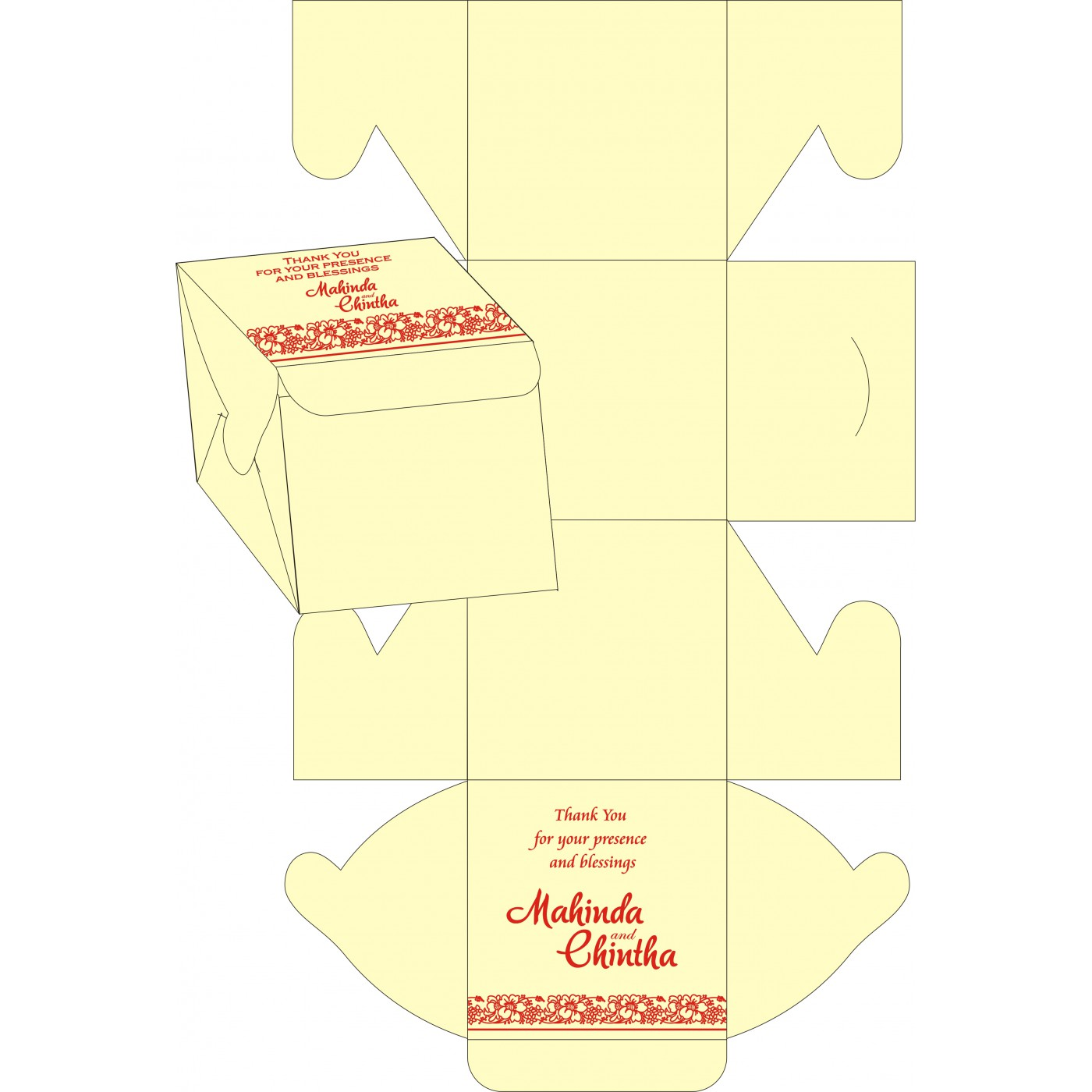 Cake Sweet Boxes : SB-8207J - 123WeddingCards