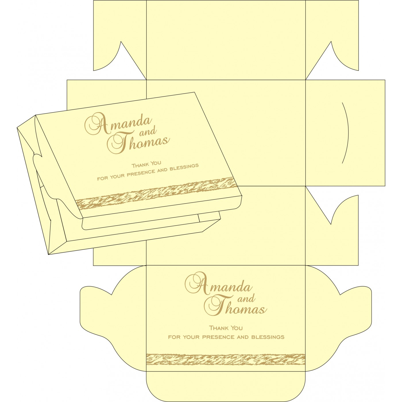 Cake Sweet Boxes : SB-8209I - 123WeddingCards