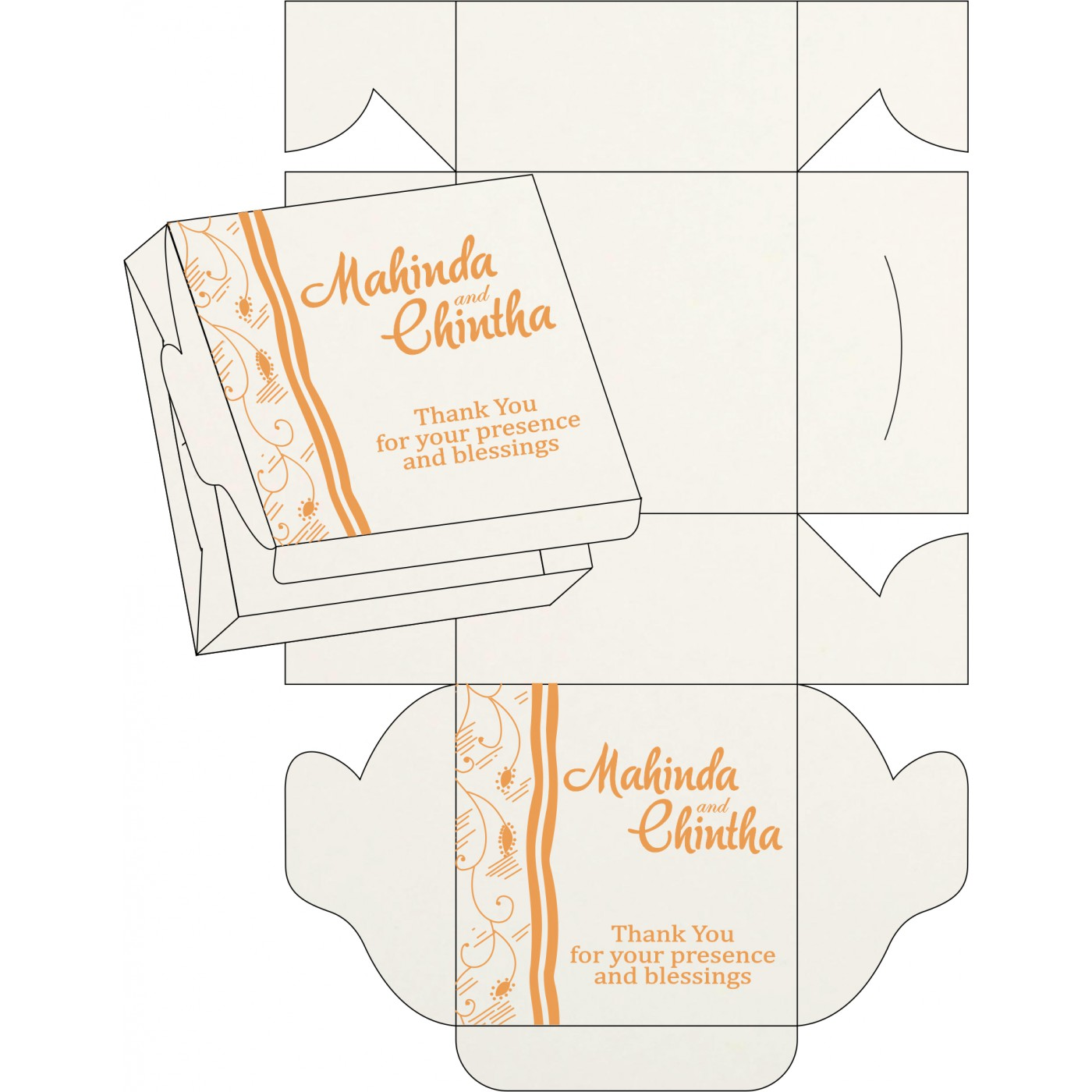 Cake Sweet Boxes : SB-8210L - 123WeddingCards