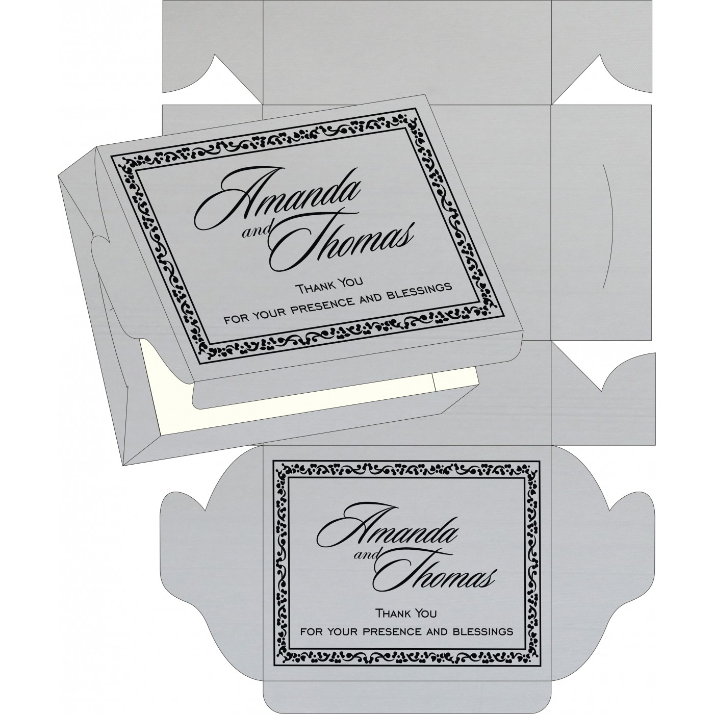 Cake Sweet Boxes : SB-8214N - 123WeddingCards