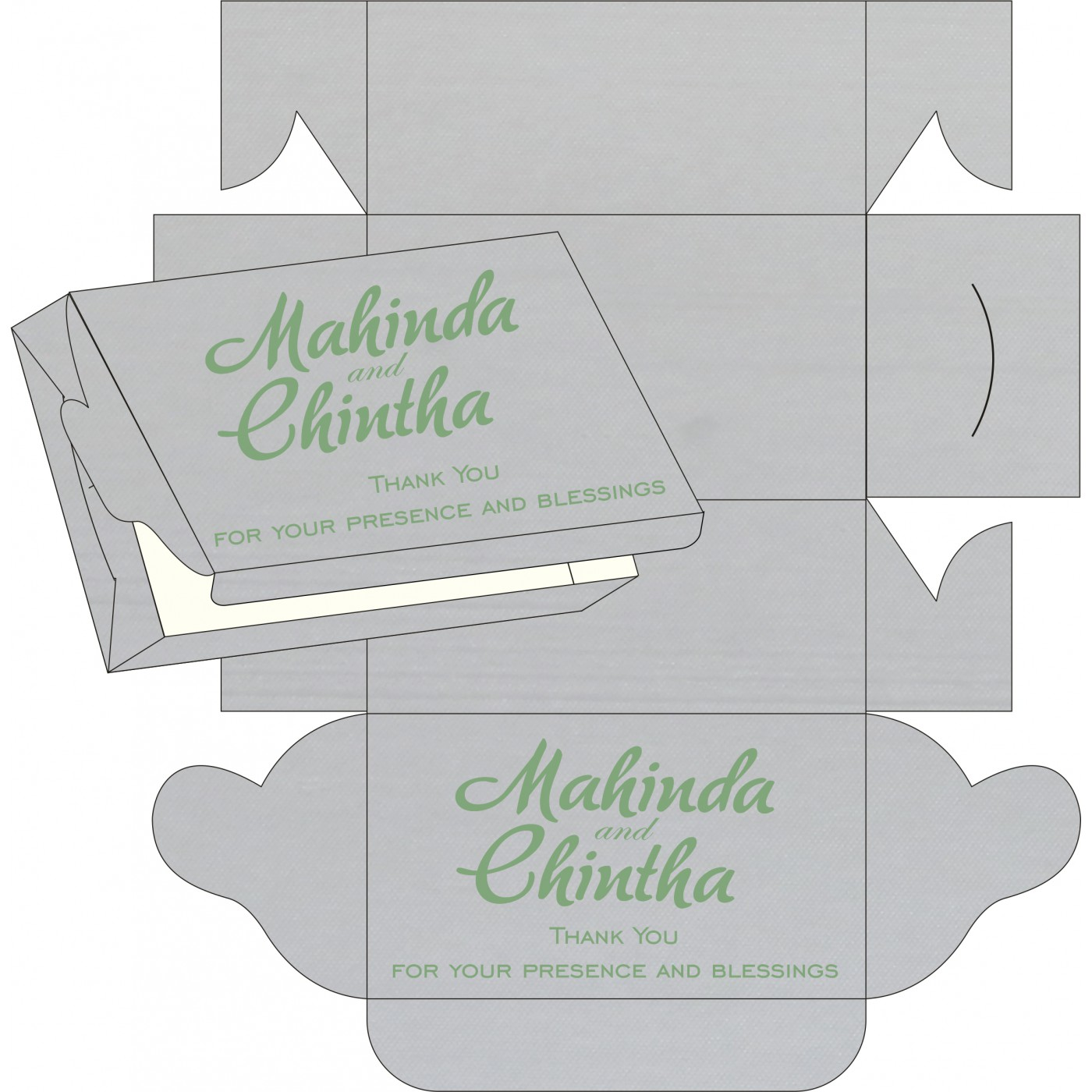 Cake Sweet Boxes : SB-8214P - 123WeddingCards