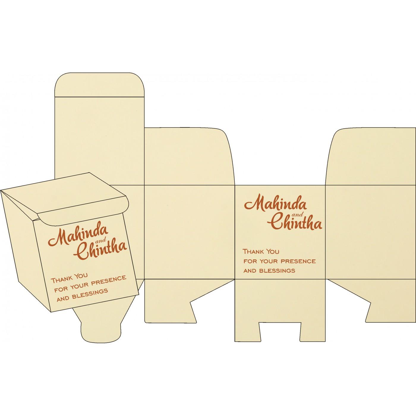 Cake Sweet Boxes : SB-8216E - 123WeddingCards