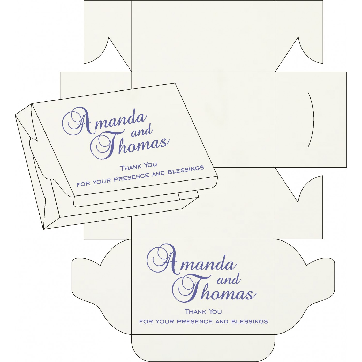 Cake Sweet Boxes : SB-8216I - 123WeddingCards