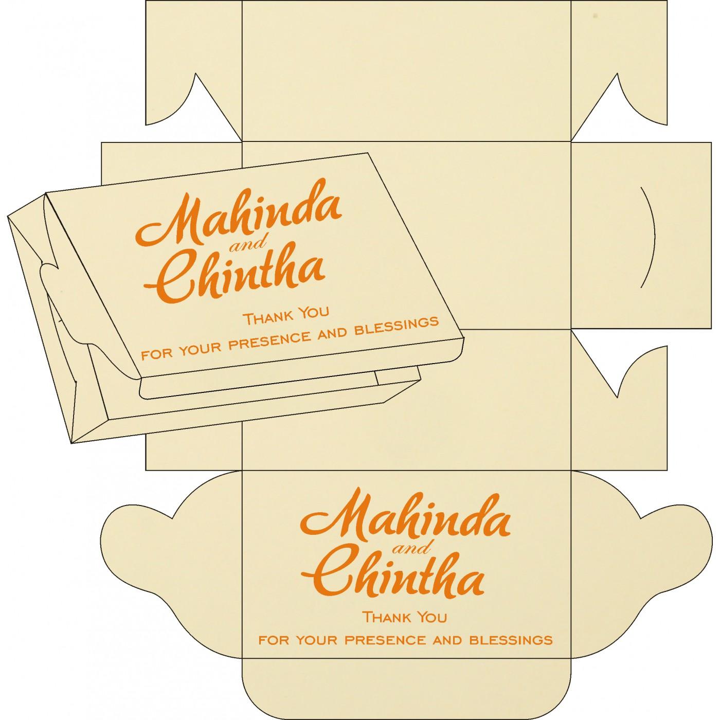 Cake Sweet Boxes : SB-8216O - 123WeddingCards