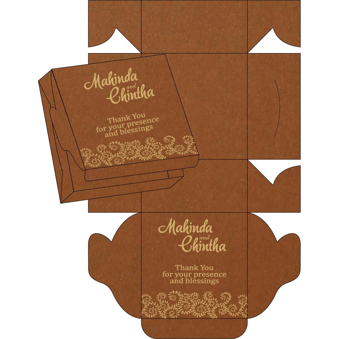 Cake Sweet Boxes : SB-8217I - 123WeddingCards