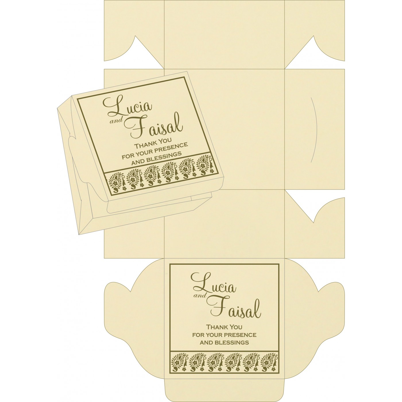 Cake Sweet Boxes : SB-8218A - 123WeddingCards