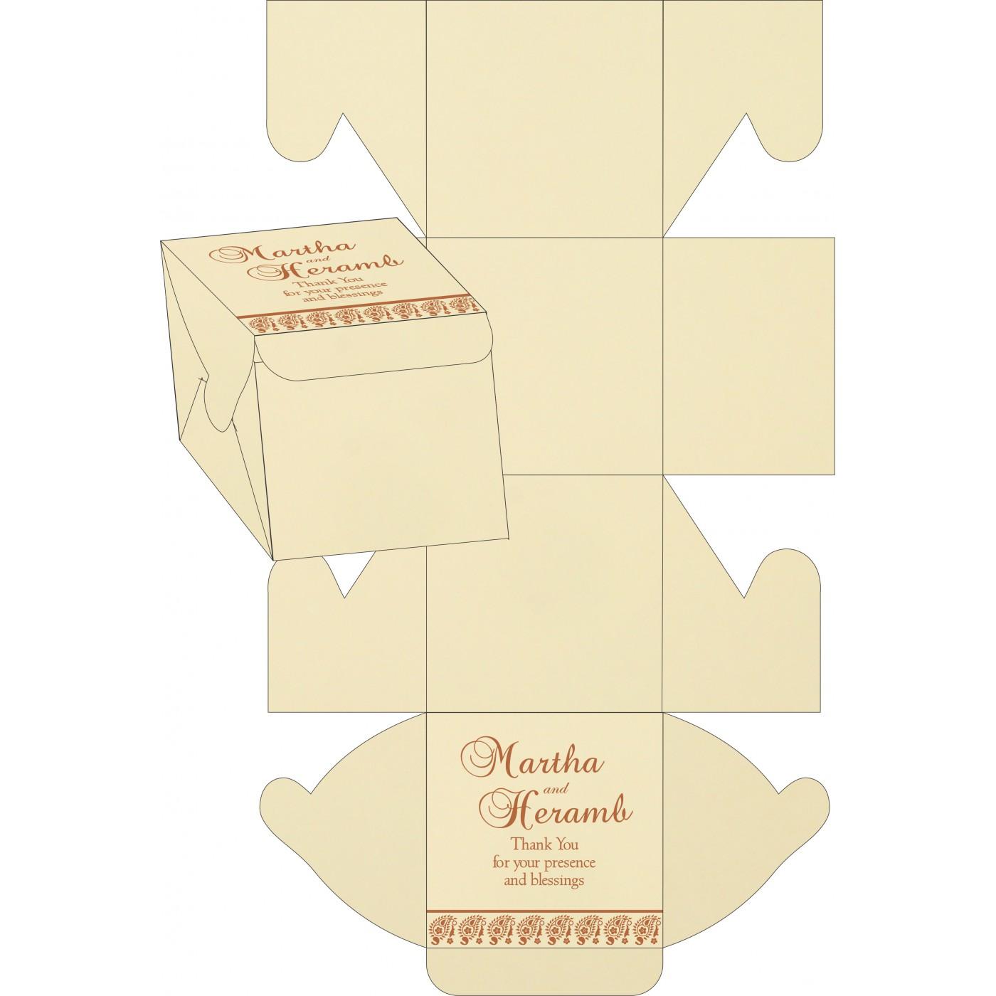 Cake Sweet Boxes : SB-8218C - 123WeddingCards