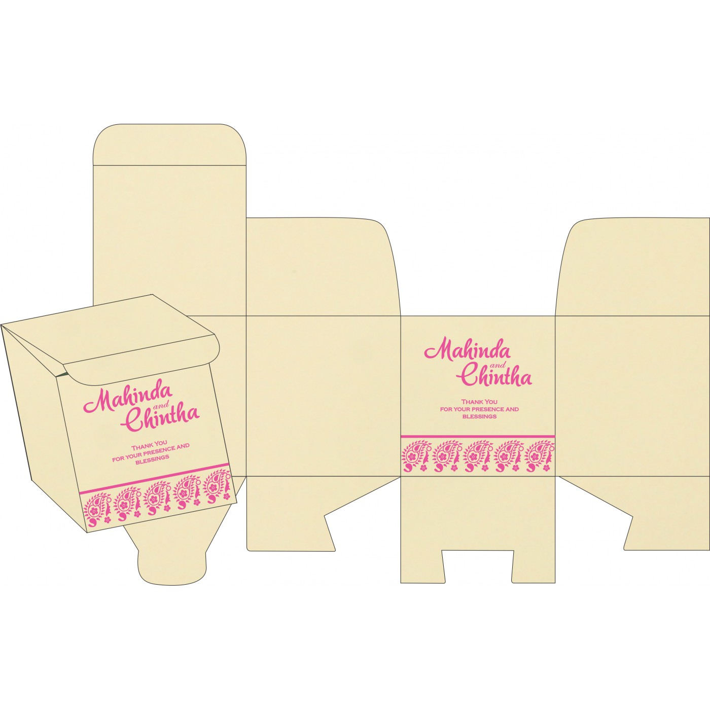 Cake Sweet Boxes : SB-8218F - 123WeddingCards