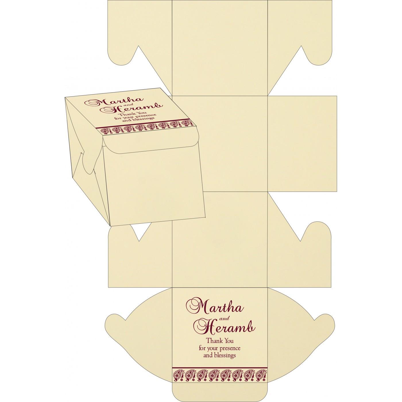 Cake Sweet Boxes : SB-8218N - 123WeddingCards