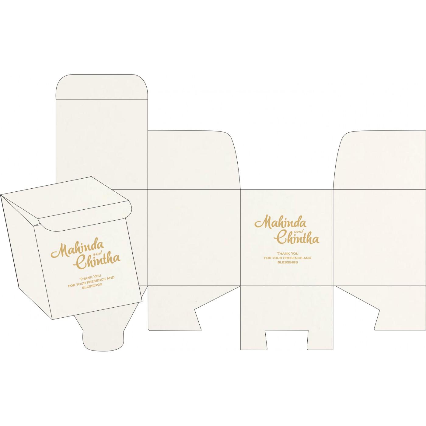 Cake Sweet Boxes : SB-8221G - 123WeddingCards