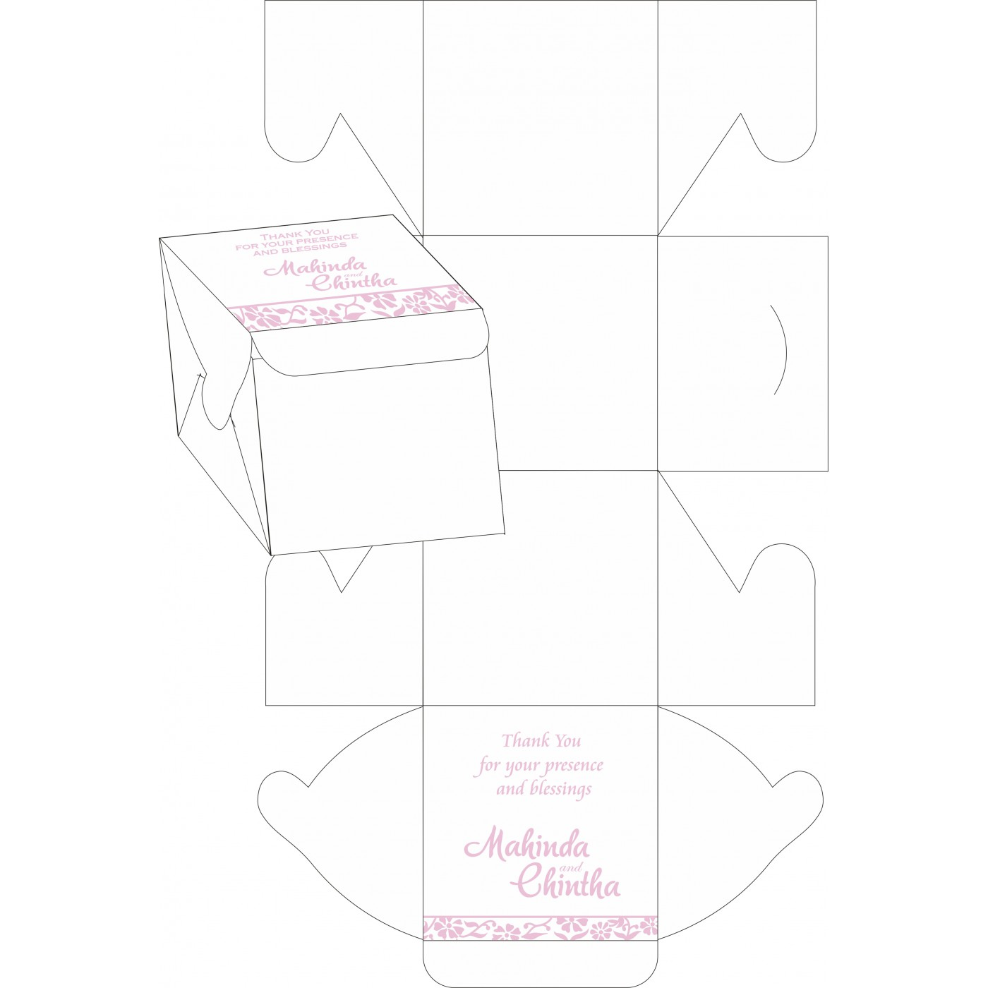 Cake Sweet Boxes : SB-8222N - 123WeddingCards