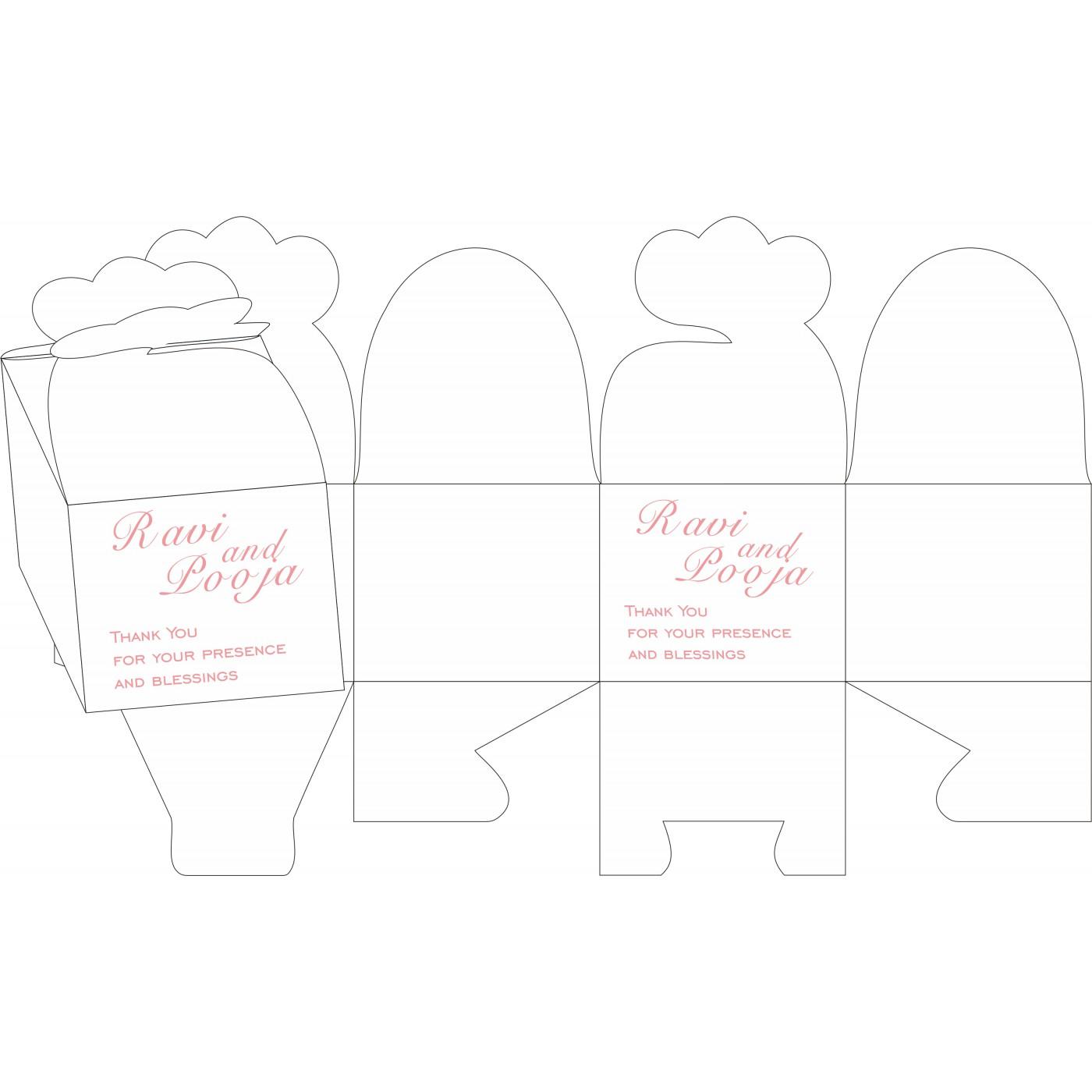 Cake Sweet Boxes : SB-8223E - 123WeddingCards