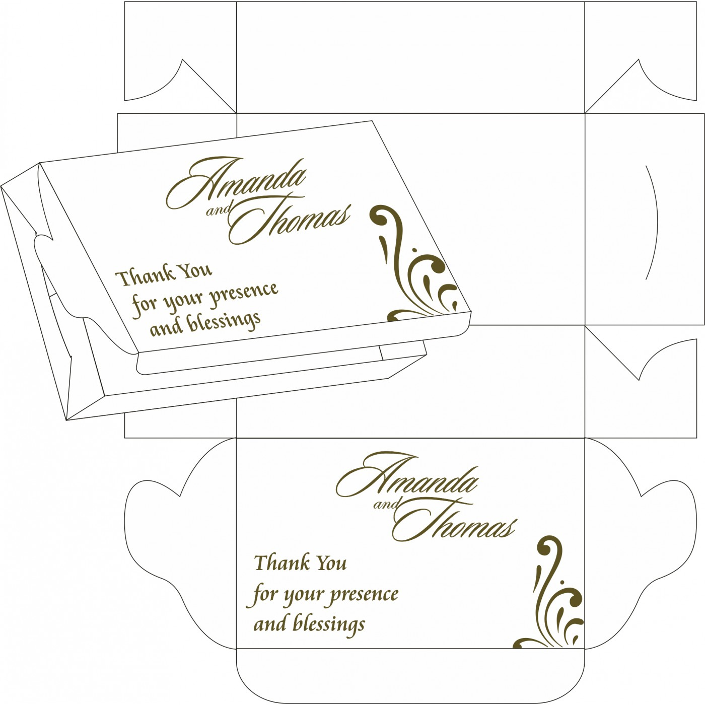 Cake Sweet Boxes : SB-8223I - 123WeddingCards