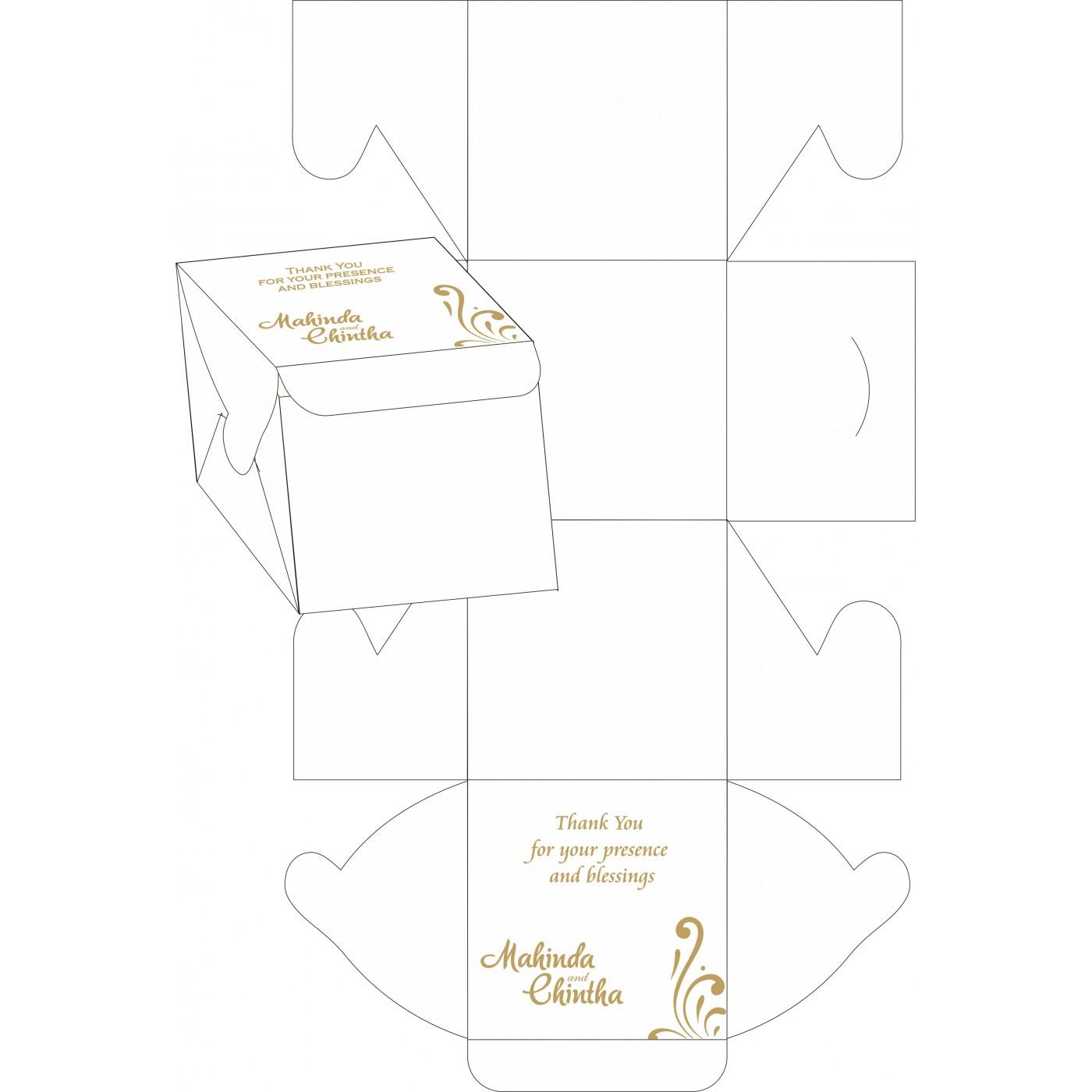 Cake Sweet Boxes : SB-8223L - 123WeddingCards