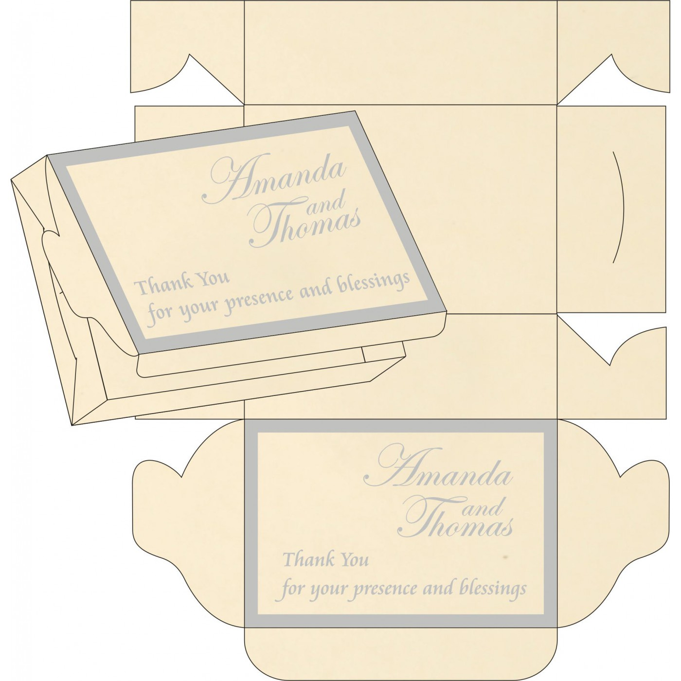Cake Sweet Boxes : SB-8229I - 123WeddingCards
