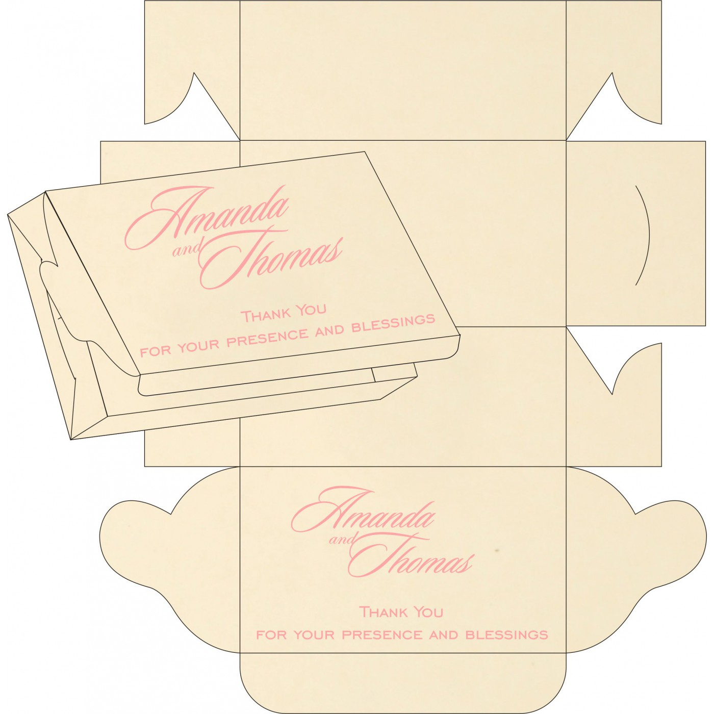 Cake Sweet Boxes : SB-8229Q - 123WeddingCards