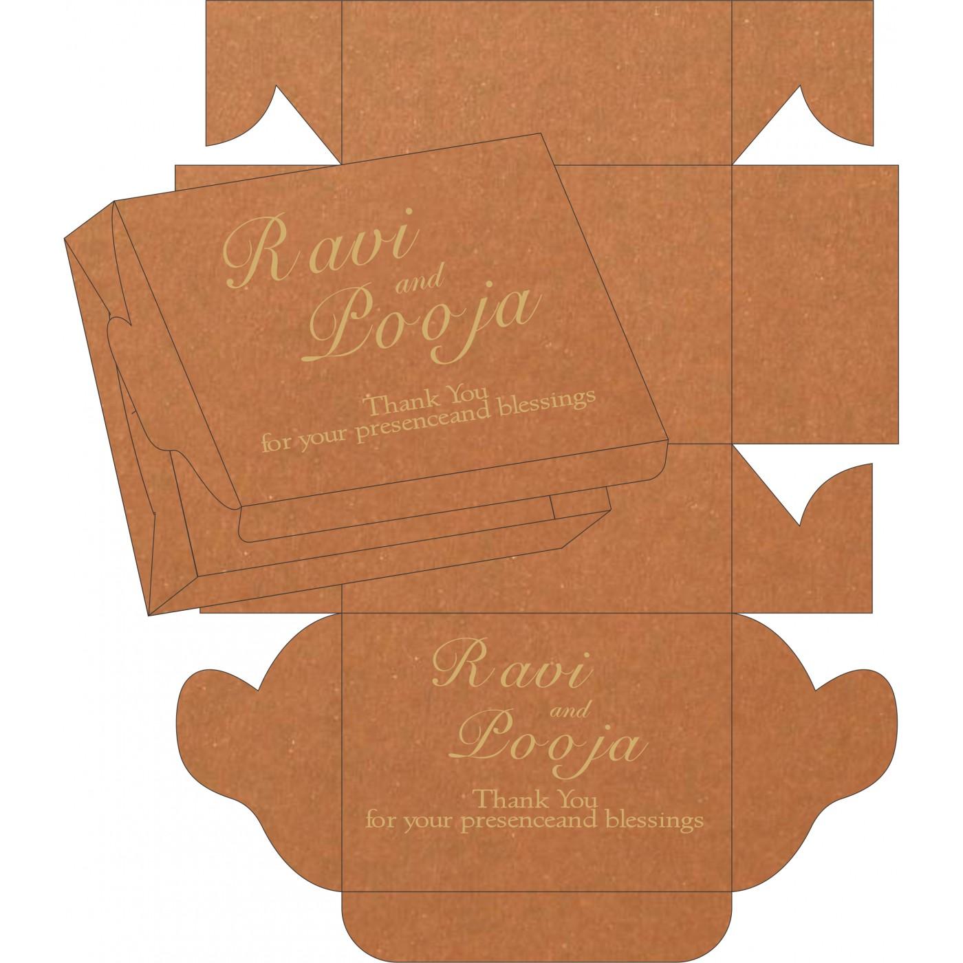 Cake Sweet Boxes : SB-8230Q - 123WeddingCards