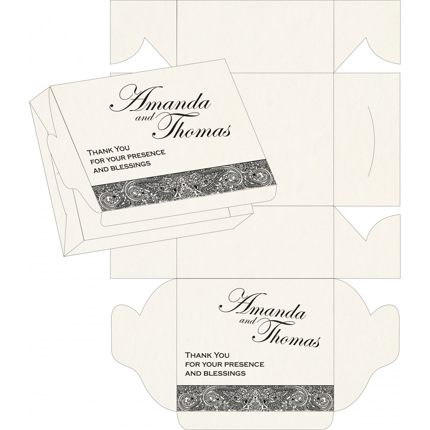 Cake Sweet Boxes : SB-8234A - 123WeddingCards