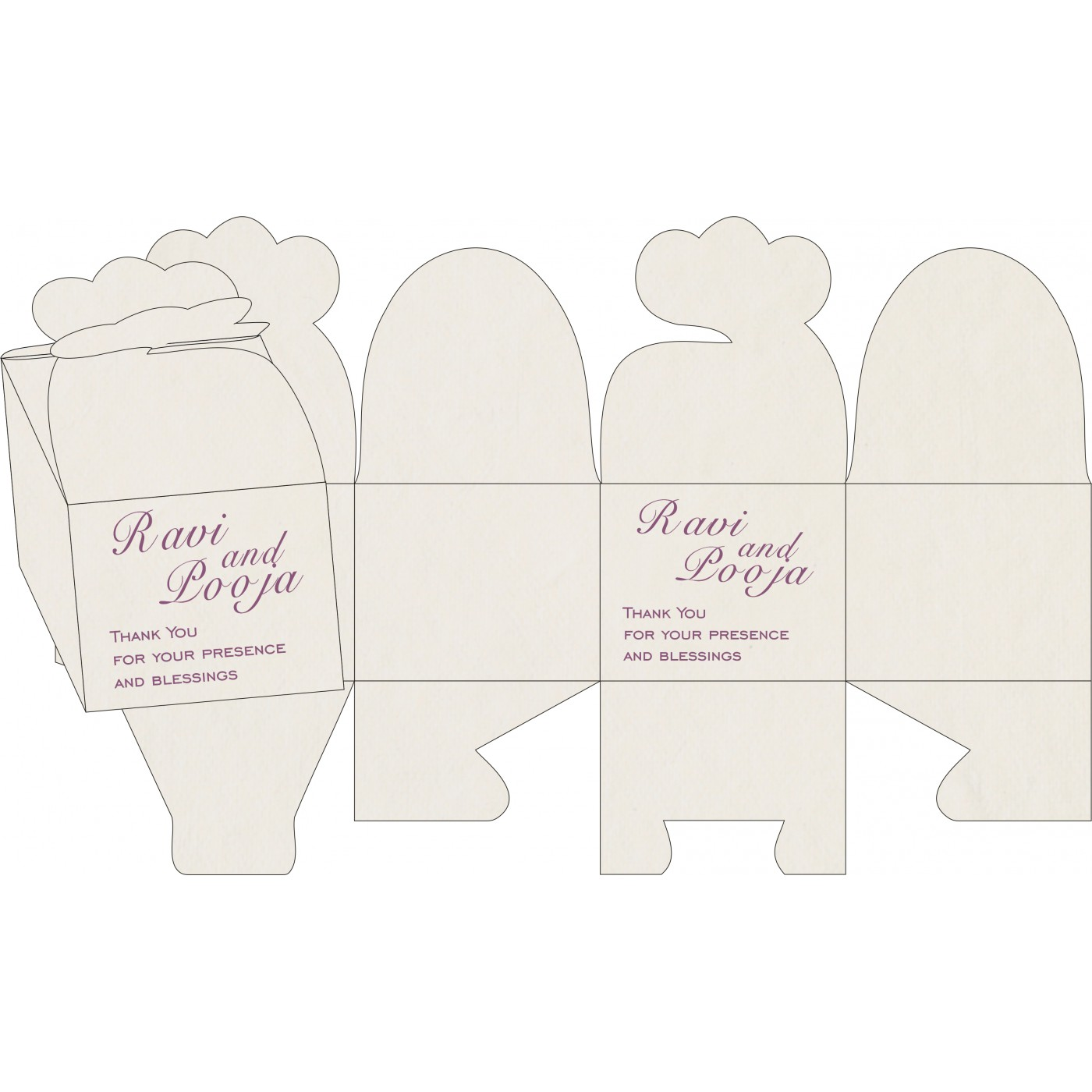 Cake Sweet Boxes : SB-8234D - 123WeddingCards