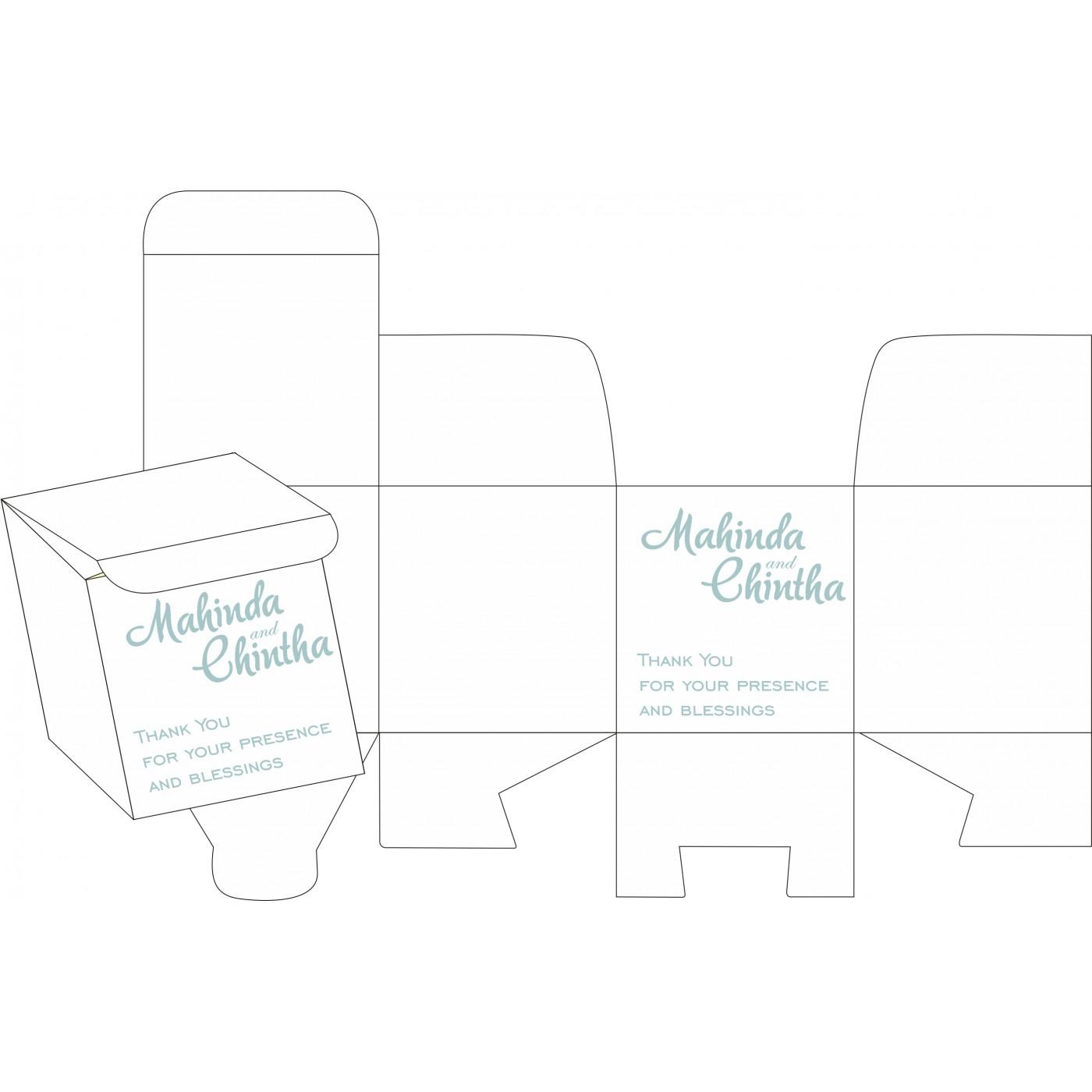 Cake Sweet Boxes : SB-8234E - 123WeddingCards